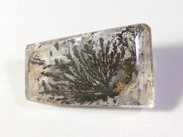 【21892】鉱物のふしぎ・天然デントリティッククォーツ12.61ct ソーティングメモ付き