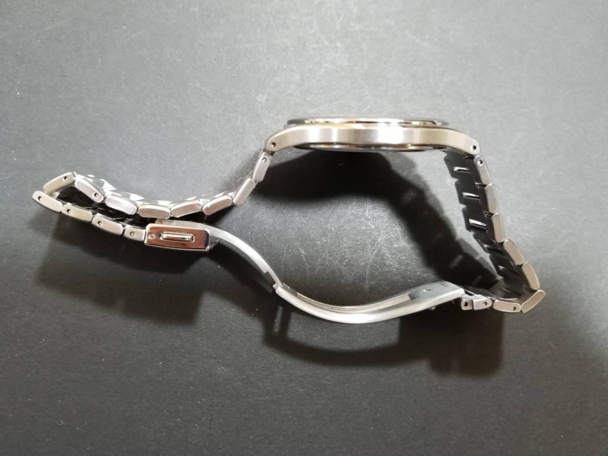 シチズン エクシード H430-T005675 電波ソーラー 腕時計 エコドライブ シェル文字盤 美品_画像6