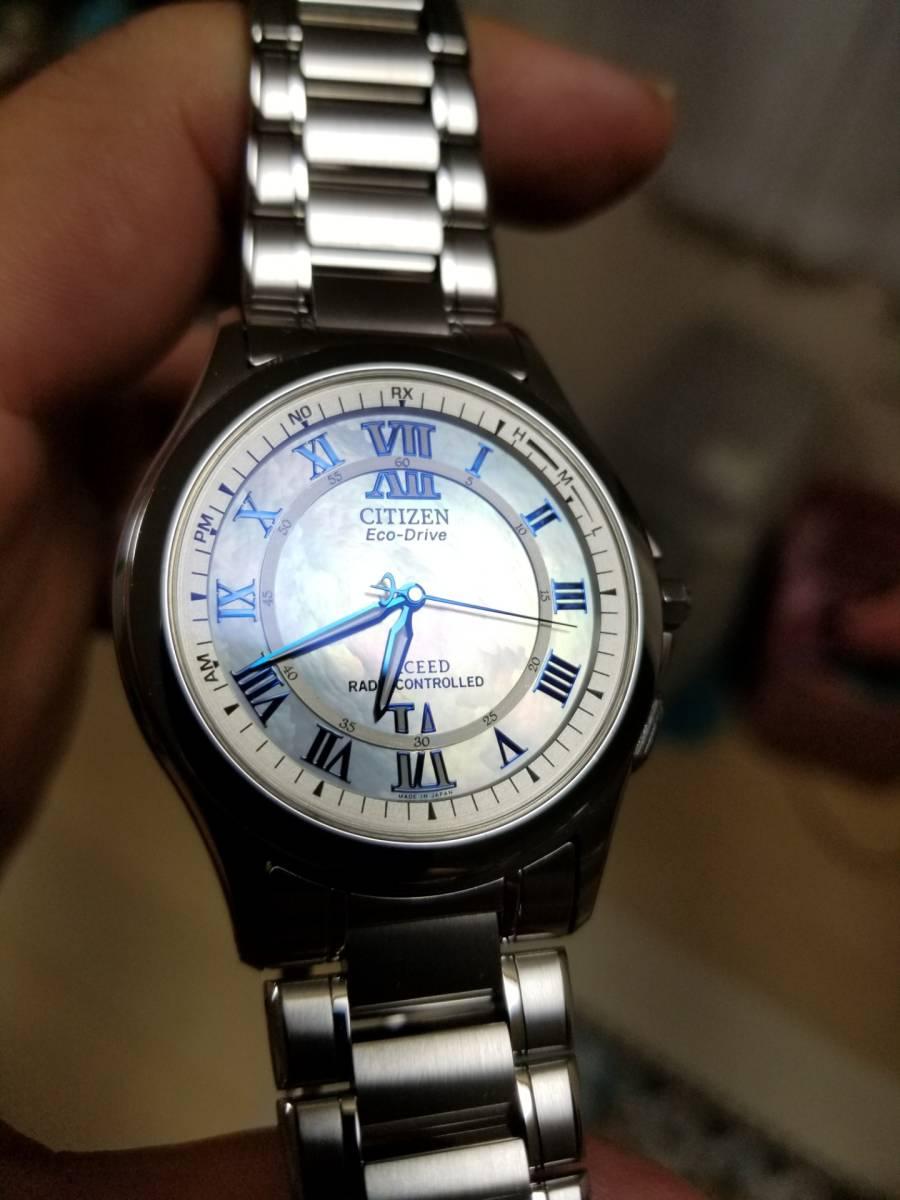 シチズン エクシード H430-T005675 電波ソーラー 腕時計 エコドライブ シェル文字盤 美品