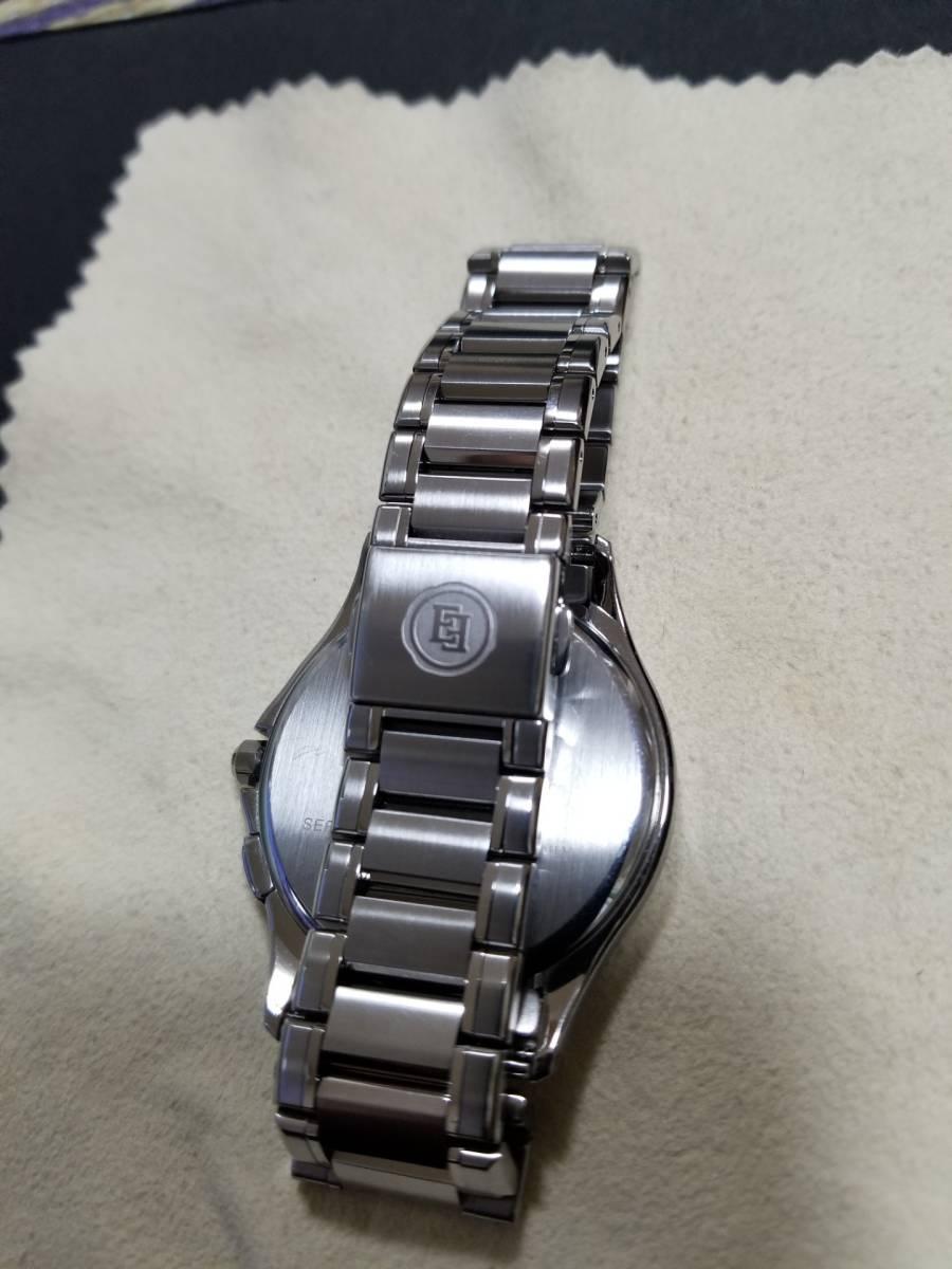 シチズン エクシード H430-T005675 電波ソーラー 腕時計 エコドライブ シェル文字盤 美品_画像7