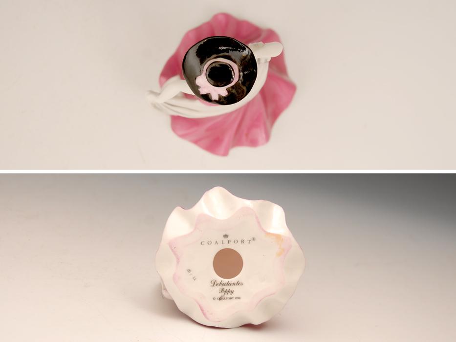 COALPOAT コールポート「poppy debutantes」フィギュリン 陶磁人形 英国製 西洋美術 限定品97品の内の11品目 b5907o_画像8