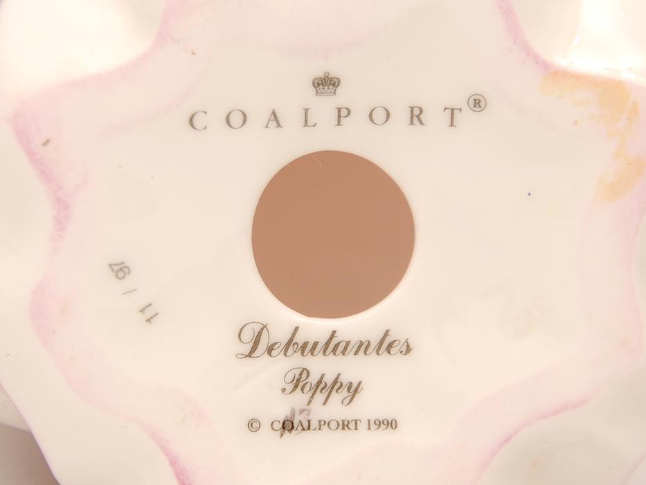 COALPOAT コールポート「poppy debutantes」フィギュリン 陶磁人形 英国製 西洋美術 限定品97品の内の11品目 b5907o_画像2