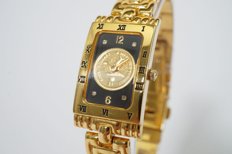K937◇クリスチャン リース ラッセン GOLD COIN WATCH コインウォッチ 腕時計 999.9GOLD 1/30 OZ Christian Riese Lassen 金貨