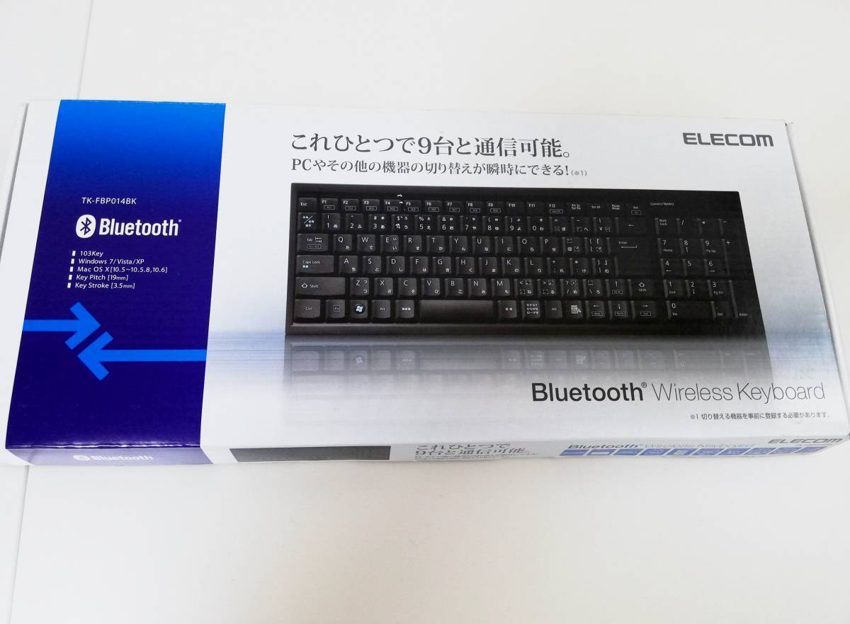 elecom bluetooth ワイヤレスキーボード TK-FBP014BK