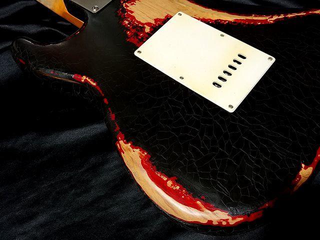 ◆◆CustomModify P90 Maltilayer Heavy Relic Black Startocaster ◆レリック ビンテージCap スムーステーパーボリューム◆_画像6