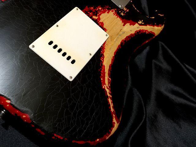 ◆◆CustomModify P90 Maltilayer Heavy Relic Black Startocaster ◆レリック ビンテージCap スムーステーパーボリューム◆_画像7