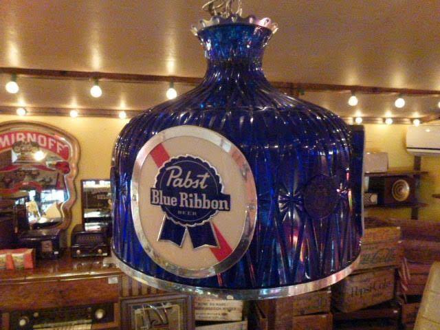 60s Pabst Blue Ribbon アンティーク ライト 照明 テンダーロイン アメリカ ビール インテリア ビンテージ バー パブ パブスト _画像1