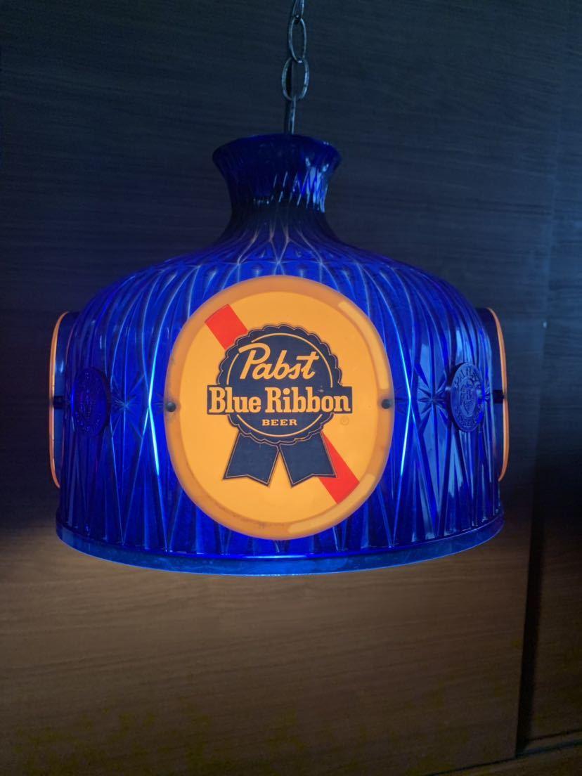 60s Pabst Blue Ribbon アンティーク ライト 照明 テンダーロイン アメリカ ビール インテリア ビンテージ バー パブ パブスト _画像4