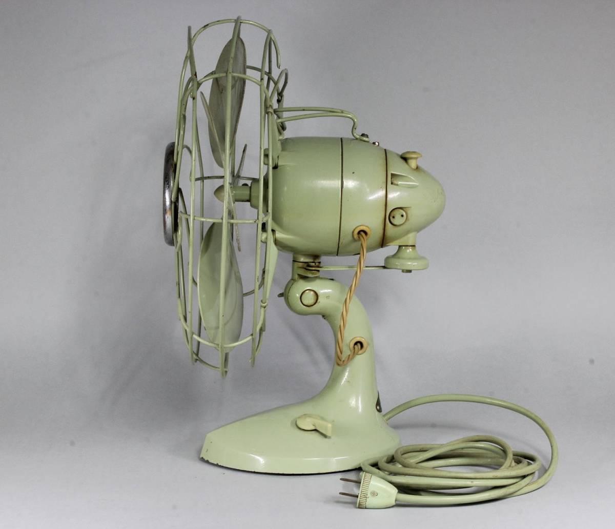 HITACHI 日立 A.C. DESK FAN/ M-6032 扇風機 可動品 首振り 動作確認済み 当時の箱付き /昭和レトロ レトロ扇風機 アンティーク _画像3