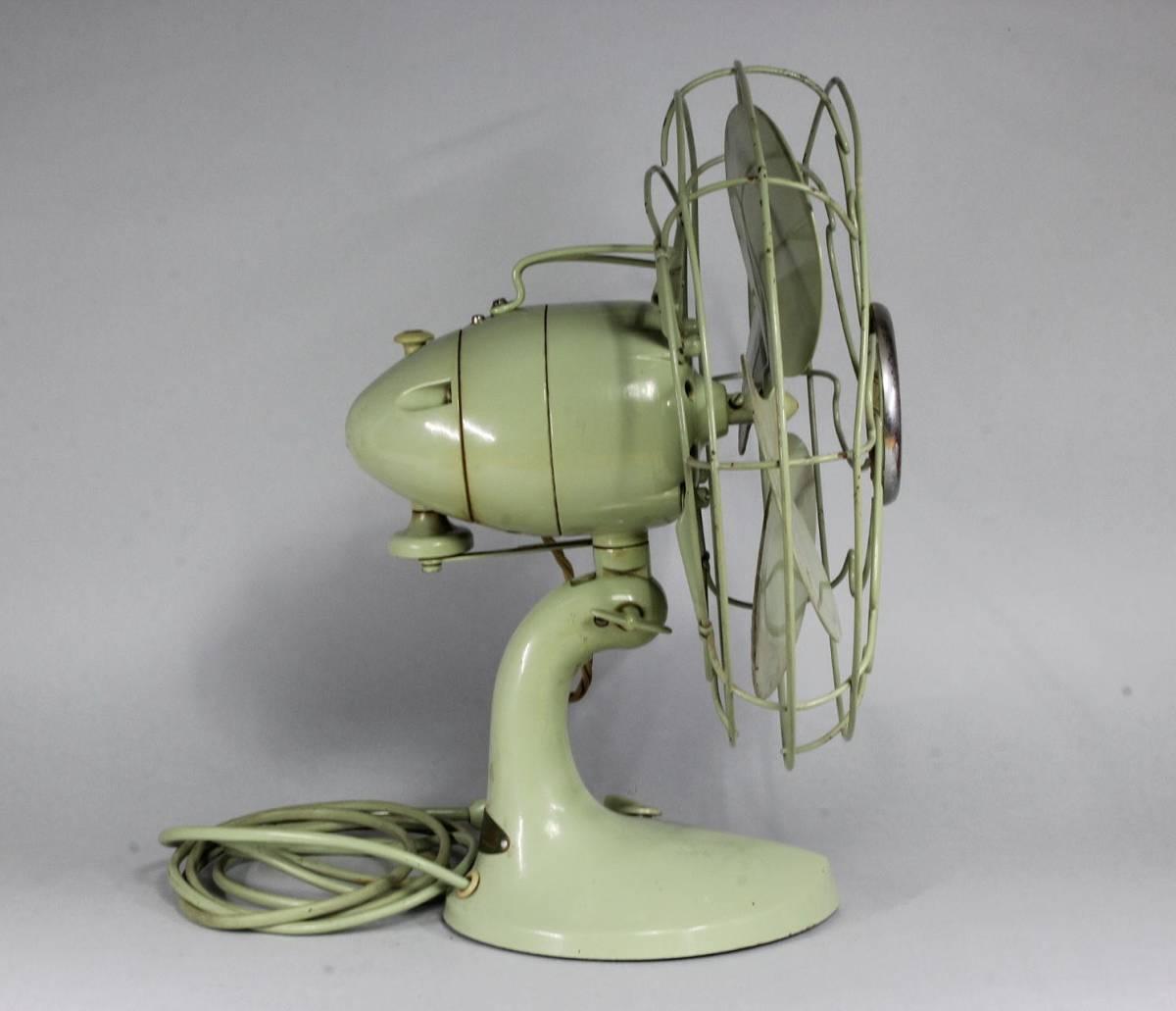 HITACHI 日立 A.C. DESK FAN/ M-6032 扇風機 可動品 首振り 動作確認済み 当時の箱付き /昭和レトロ レトロ扇風機 アンティーク _画像4