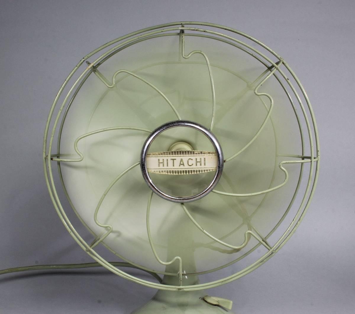 HITACHI 日立 A.C. DESK FAN/ M-6032 扇風機 可動品 首振り 動作確認済み 当時の箱付き /昭和レトロ レトロ扇風機 アンティーク _画像10