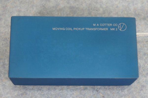 A241806G] MA COTTER エムエーコッター MK 2 MC昇圧トランス_画像2