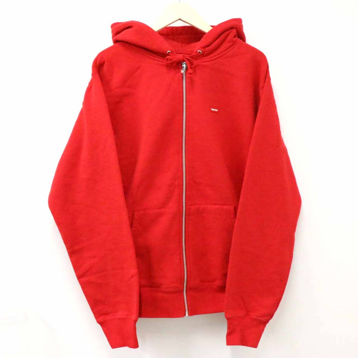新品未使用 Supreme シュプリーム 19SS Small Box Zip Up Sweatshirt M RED レア 希少 完売 B16562_画像1