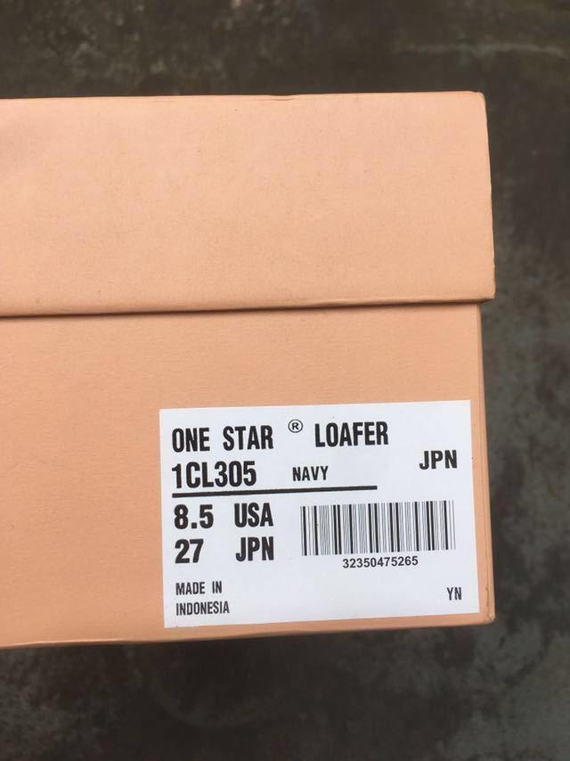 レア【極美品】converse addict コンバースアディクト one star ローファー ワンスター 27cm _画像3