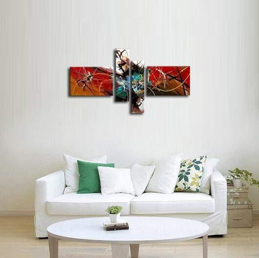 アートパネル 『カタストロフ』 20x80cm他、計4枚組 手描き_画像4