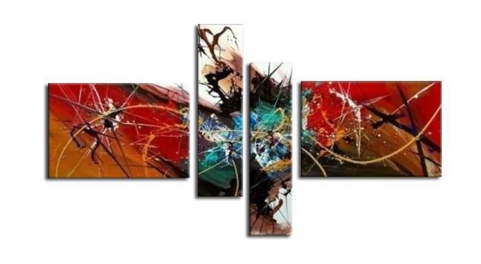 アートパネル 『カタストロフ』 20x80cm他、計4枚組 手描き_画像1