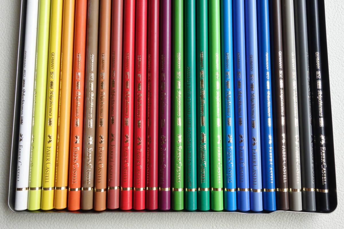 【新品未使用】FABER-CASTELL ファーバーカステル ポリクロモス油性 耐水性色鉛筆 24色_画像4