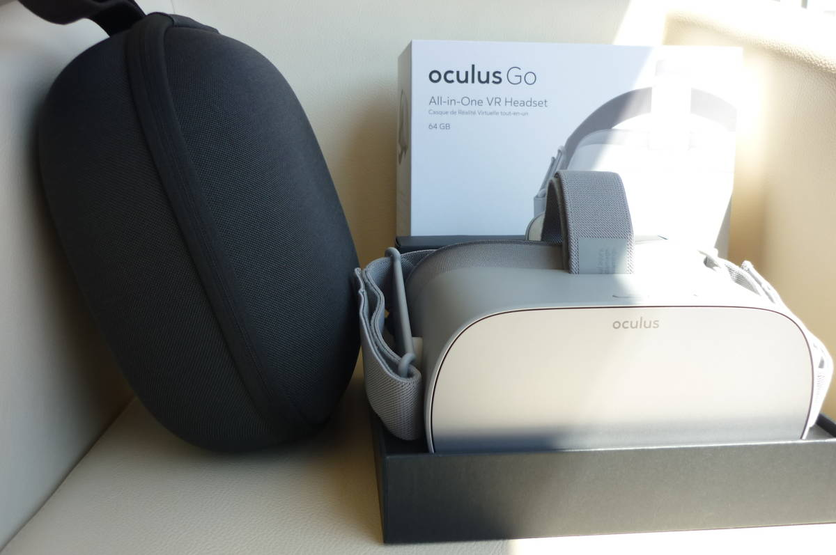 完全売切り1円スタート Oculus Go 64GBオキュラスゴー+正規オキュラスゴーキャリングケース付き 2019年4月29日に新品にて購入(使用歴少)_画像2
