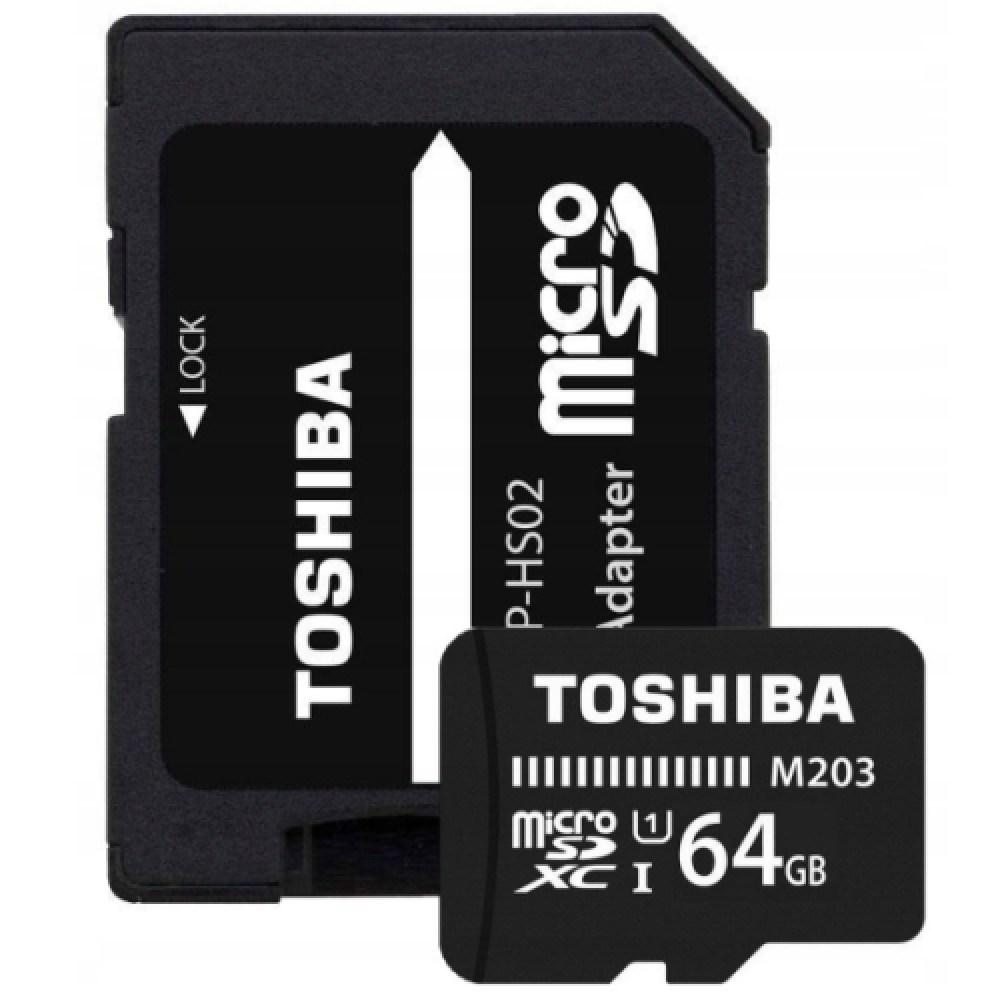 【送料無料】新品未開封品「64GB」TOSHIBA microSDXCカード 専用アダプタ付き (R:100MB class10 UHS-1 マイクロSD 東芝 SanDisk)【SD】緑A1_画像2