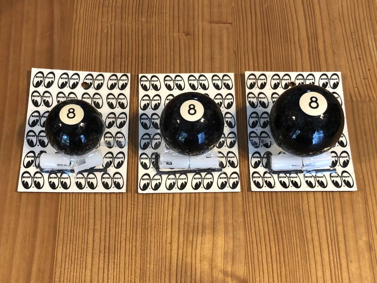 黒 ブラック シフトノブ 8ボール Sサイズ 直径3.5cm mooneyes 好きな方に moon eyes ムーンアイズ シフト ノブ アメリカン ずっしり USA_こちらは一番小さい左のお品の出品です。