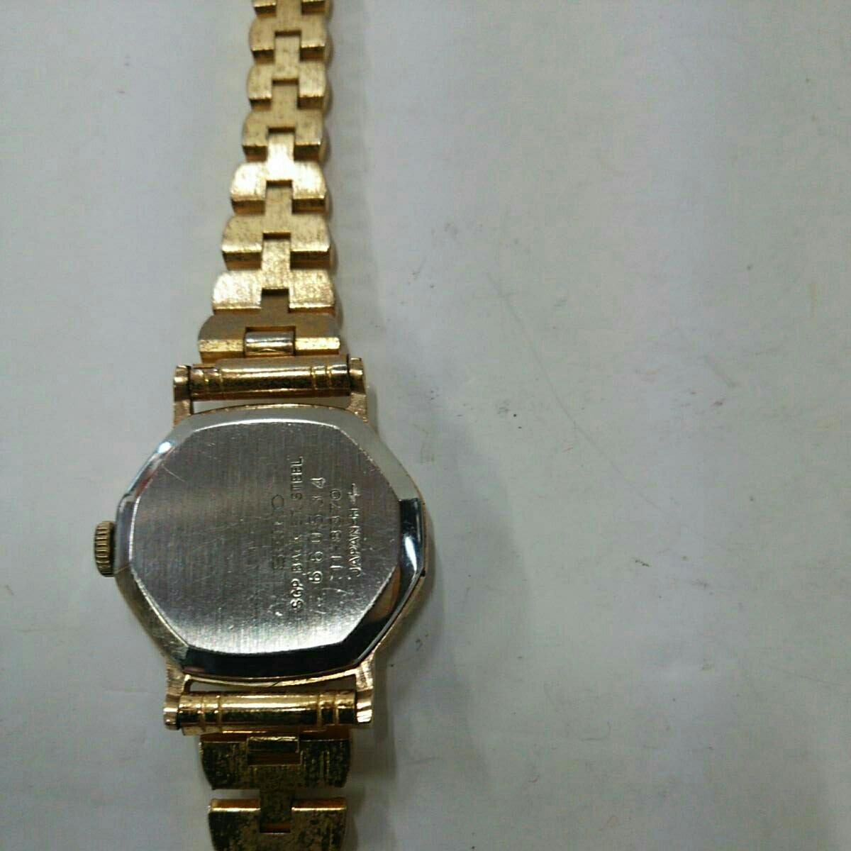 B-8 稼働品 セイコー・ソシエ レディース手巻き式腕時計_画像3