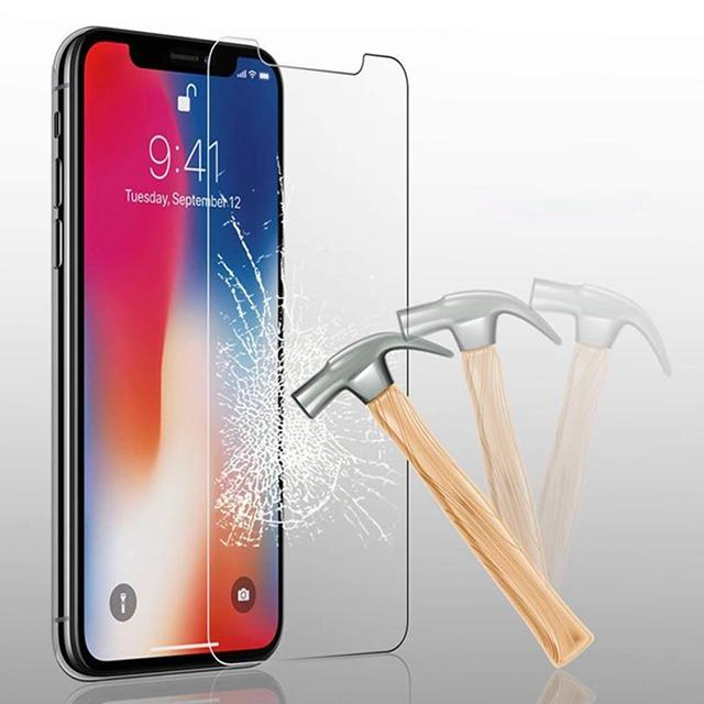 【水曜日まで】iPhone XR用★超高硬度9H 2.5D 液晶保護 強化ガラスフィルム(液晶保護フィルム) 極薄0.33mm 曲面対応 最強強度 徹底防御_画像3