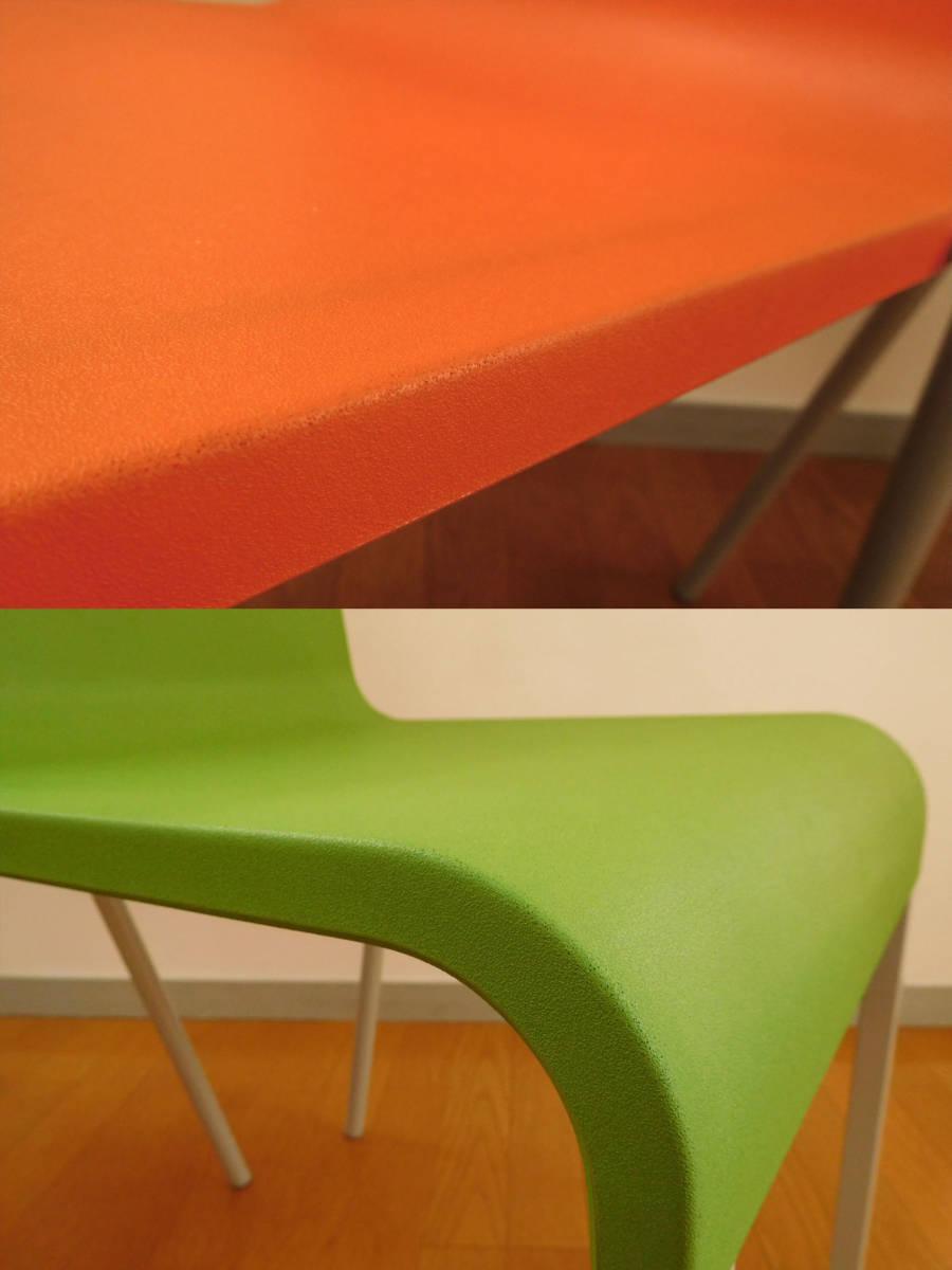 ◆VITRA .03チェア 2脚組◆ヴィトラ ゼロスリー12.3万 オレンジ・グリーンhhstyle 名作デザイナーズ モダン検:ヤマギワ北欧調コ ンランUSM_画像6