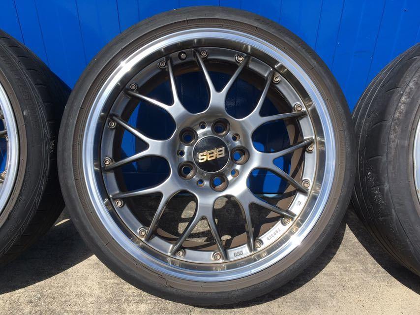 BBS アルミホイール BMW E90 E91用 8.5J18二本 9.5J18二本 中古タイヤホイール4本セット_画像3