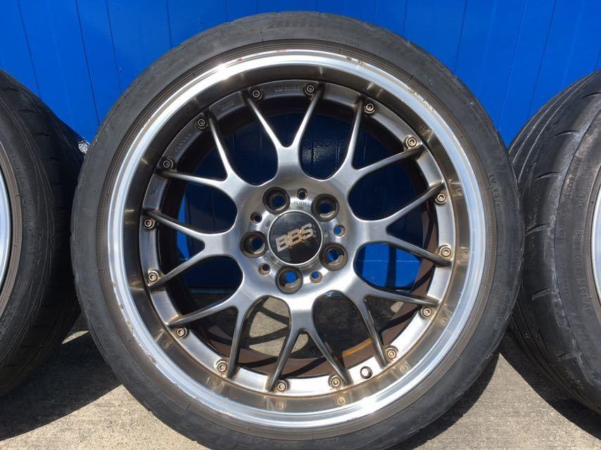 BBS アルミホイール BMW E90 E91用 8.5J18二本 9.5J18二本 中古タイヤホイール4本セット_画像4