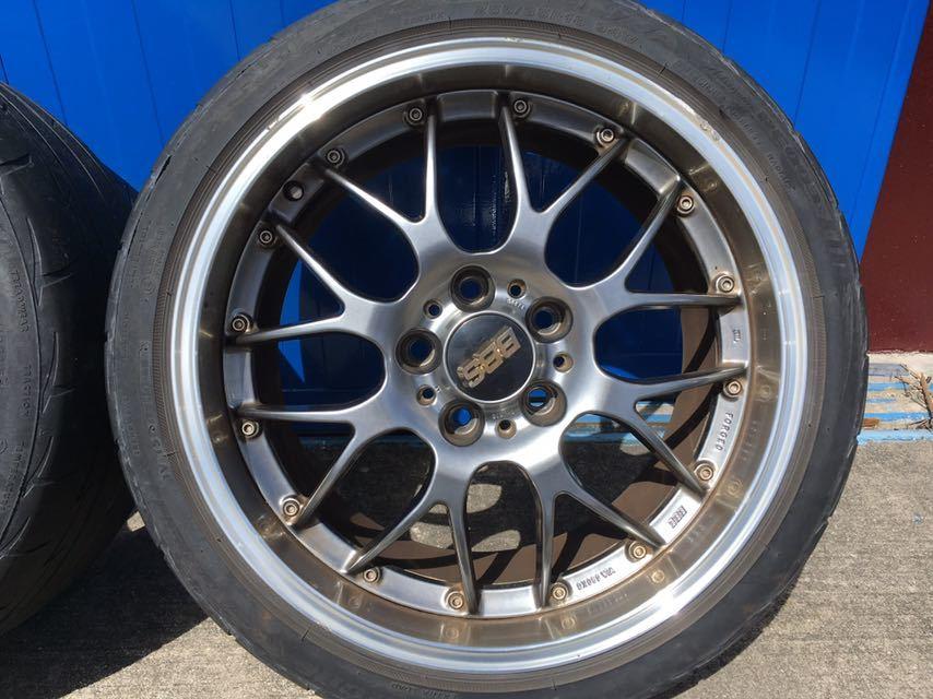 BBS アルミホイール BMW E90 E91用 8.5J18二本 9.5J18二本 中古タイヤホイール4本セット_画像5
