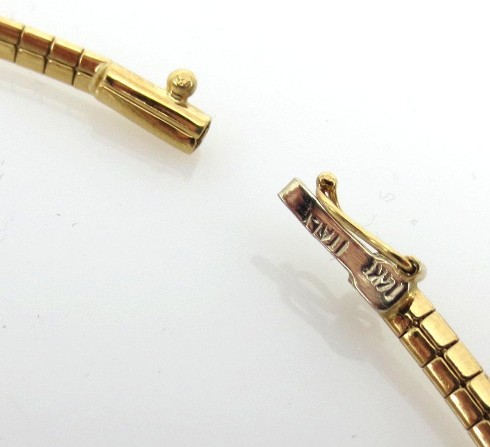 ◆ ヴィンテージ ◆《45.0ct インペリアルトパーズ 6.50ct ダイヤモンド》18K イエローゴールド イヤリング 指輪 ネックレス セット_画像5