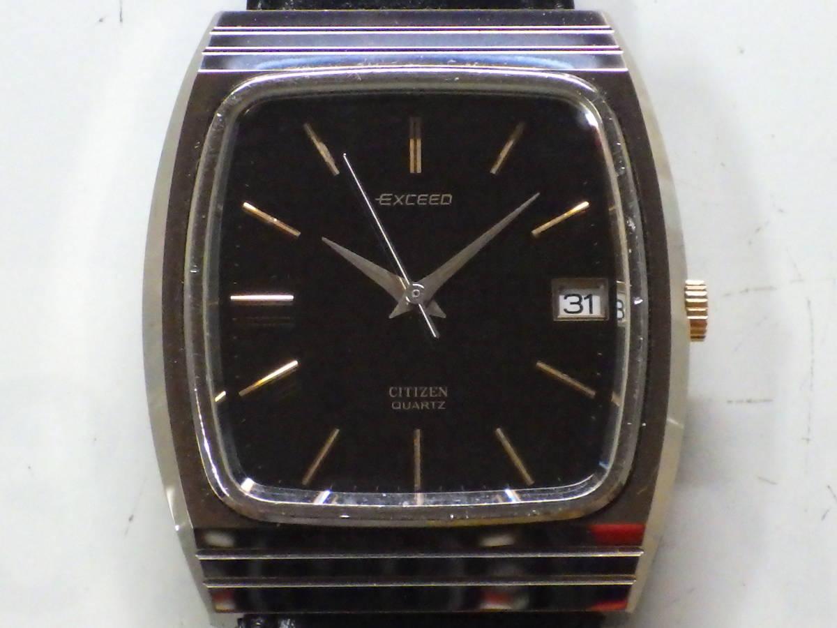 シチズン エクシード OH済み。メンズ・男性用クォーツ腕時計。超硬ケース。4-797221。_画像2