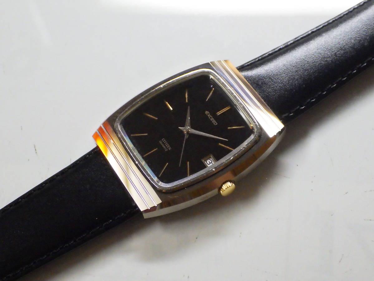 シチズン エクシード OH済み。メンズ・男性用クォーツ腕時計。超硬ケース。4-797221。_画像5