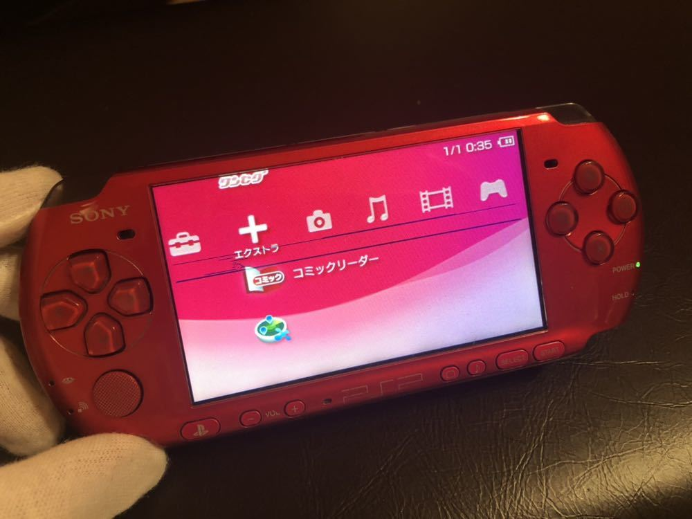 1円スタート 訳あり ソニー SONY PSP3000 赤 黒 2台セット 中古品_画像6