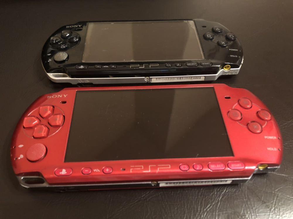 1円スタート 訳あり ソニー SONY PSP3000 赤 黒 2台セット 中古品_画像2