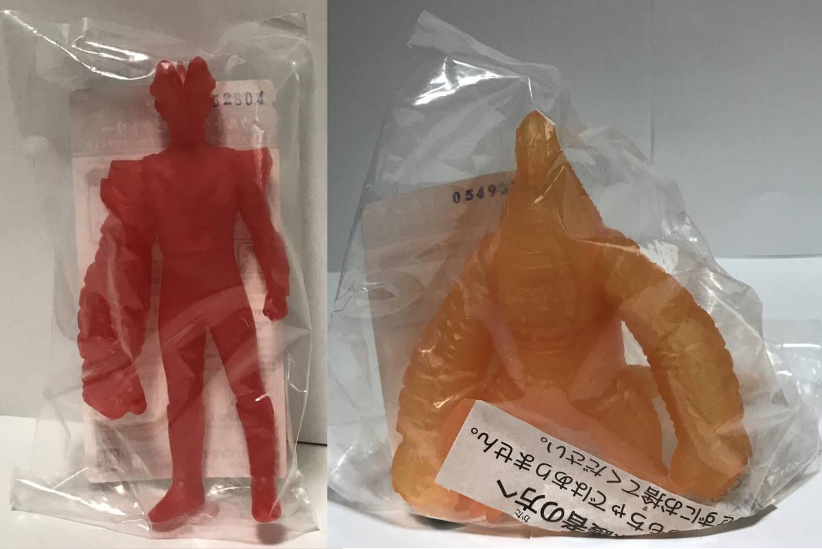 ソフビ 限定 バンダイ ウルトラヒーロー500 ウルトラマンビクトリー(クリアレッド) EXレッドキング(クリアオレンジ) 未開封品_画像1