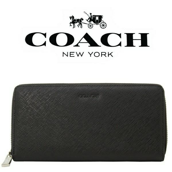 送料無料♪コーチ高級長財布●レキシントン サフィアーノブラック・F74769●COACHアウトレット新品・未使用品♪_画像1