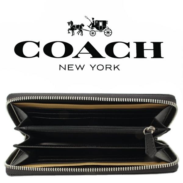 送料無料♪コーチ高級長財布●レキシントン サフィアーノブラック・F74769●COACHアウトレット新品・未使用品♪_画像6