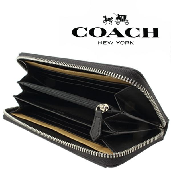 送料無料♪コーチ高級長財布●レキシントン サフィアーノブラック・F74769●COACHアウトレット新品・未使用品♪_画像8