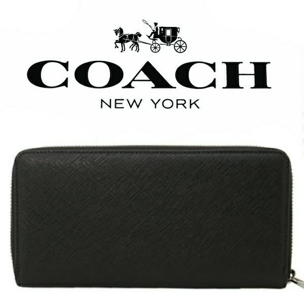 送料無料♪コーチ高級長財布●レキシントン サフィアーノブラック・F74769●COACHアウトレット新品・未使用品♪_画像2