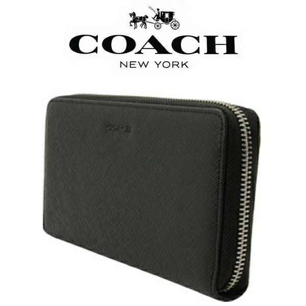 送料無料♪コーチ高級長財布●レキシントン サフィアーノブラック・F74769●COACHアウトレット新品・未使用品♪_画像3
