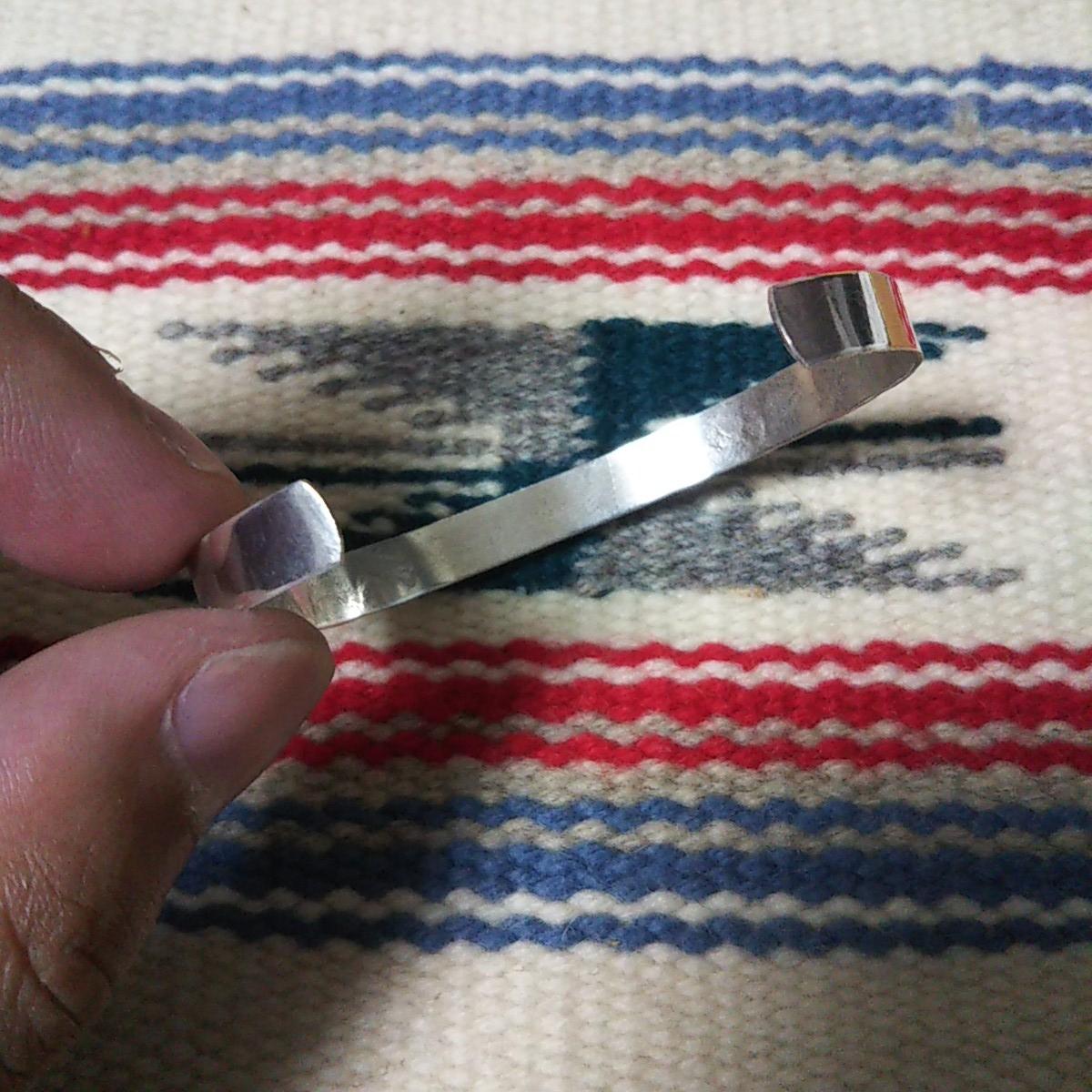 インディアンジュエリー ナバホ族 ターコイズ シルバーバングル♯ネイティブアメリカン ホピ族 ズニ族 sterling silver 925 navajo zuni_画像6