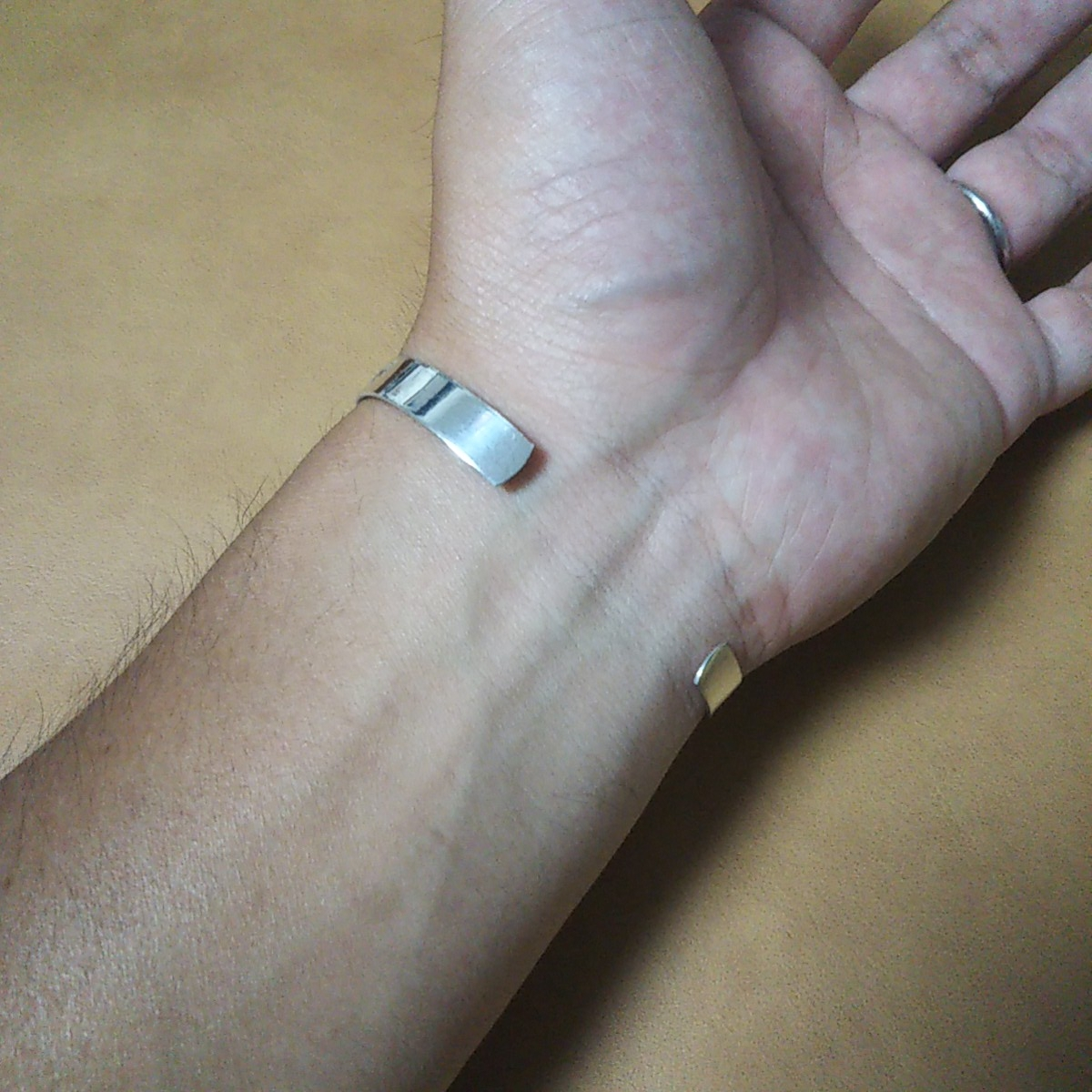 インディアンジュエリー ナバホ族 ターコイズ シルバーバングル♯ネイティブアメリカン ホピ族 ズニ族 sterling silver 925 navajo zuni_画像9