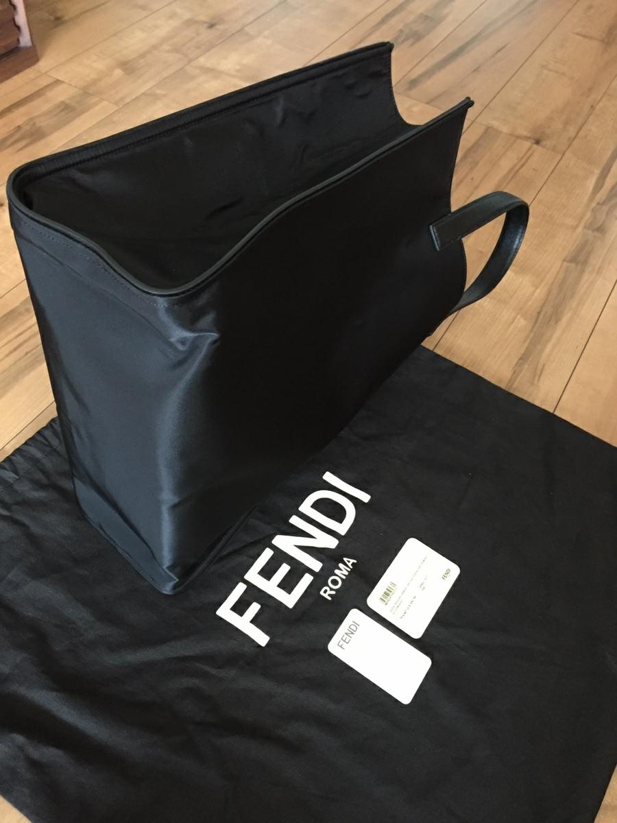 美品 フェンディ FENDI バッグ トートバッグ ナイロン×レザー 黒×イエロー シルバー金具 モンスター バグズ 未使用に近い_画像5