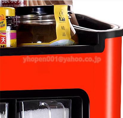 調味料ラック スパイスボックス 収納ケース キッチン雑貨 ケース フラップ扉が便利な 調味料入れ 省スペース 棚 プラチック_画像6