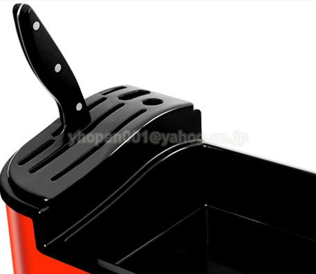 調味料ラック スパイスボックス 収納ケース キッチン雑貨 ケース フラップ扉が便利な 調味料入れ 省スペース 棚 プラチック_画像5