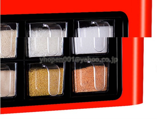 調味料ラック スパイスボックス 収納ケース キッチン雑貨 ケース フラップ扉が便利な 調味料入れ 省スペース 棚 プラチック_画像7