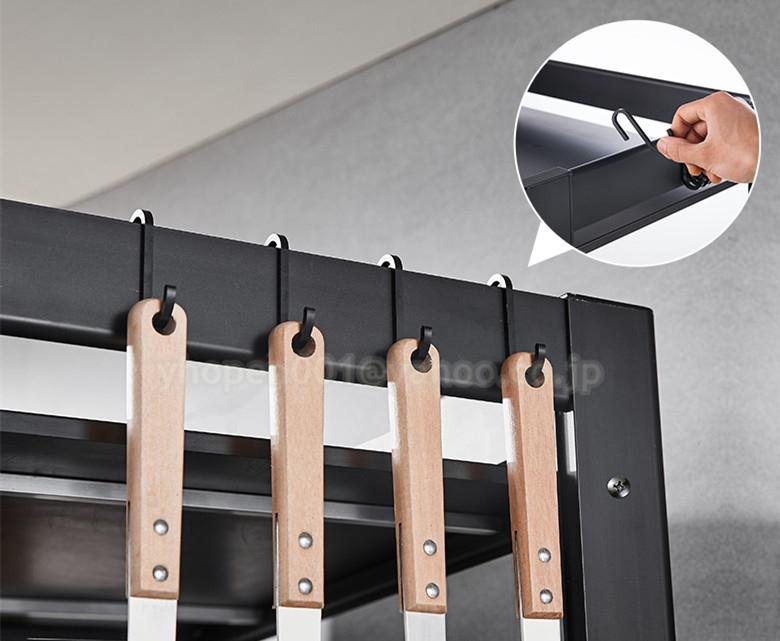 レンジ上ラック キッチン収納 トースター ラック レンジ台 レンジボード 2段式 キッチン収納棚 キッチンラック_画像3
