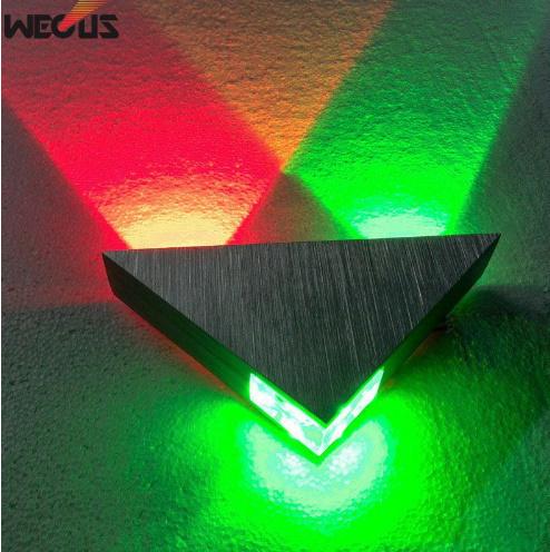 [[KO]]現代の Led  ウォールランプ  3 ワットアルミボディの三角形 ウォールライト寝室ホーム照明器具 バスルーム照明器具壁燭台_画像1