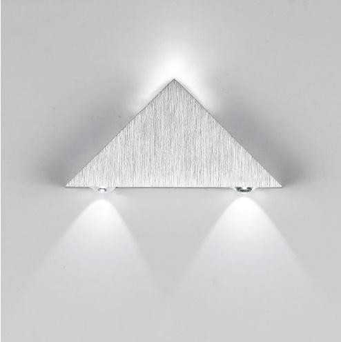 [[KO]]現代の Led  ウォールランプ  3 ワットアルミボディの三角形 ウォールライト寝室ホーム照明器具 バスルーム照明器具壁燭台_画像2